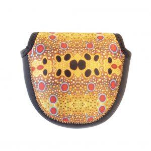 Fish Skin Reel Case – Brown Trout