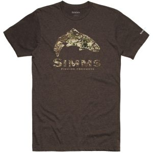 TROUT RIVER CAMO SHIRT BRWN